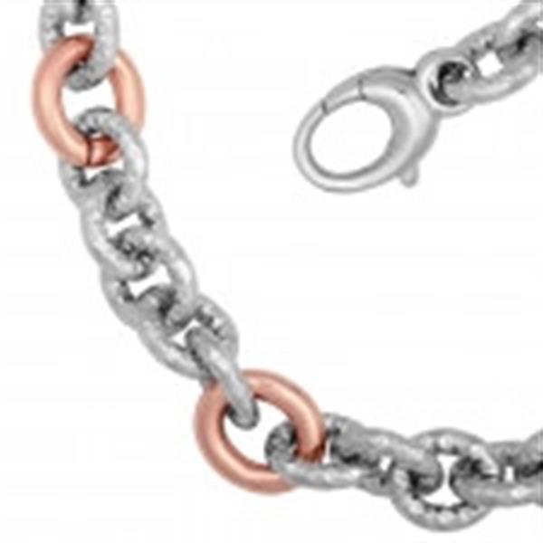 Grote foto la mode rose verguld staal dames collier nieuw 99.5 sieraden tassen en uiterlijk kettingen