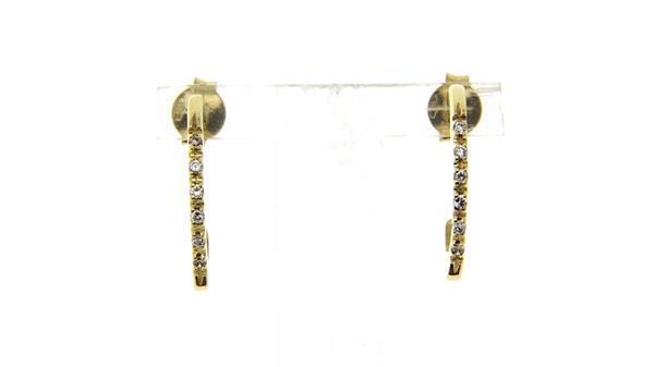 Grote foto gouden oorstekers met zirkonia 14 krt 247.5 sieraden tassen en uiterlijk oorbellen