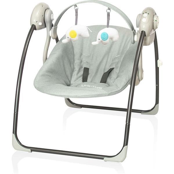 Grote foto little world babyschommel dreamday gem leerd grijs kinderen en baby babyspeelgoed