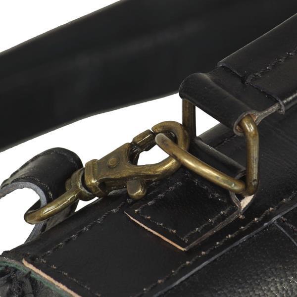 Grote foto vidaxl schoudertas echt leer zwart sieraden tassen en uiterlijk damestassen