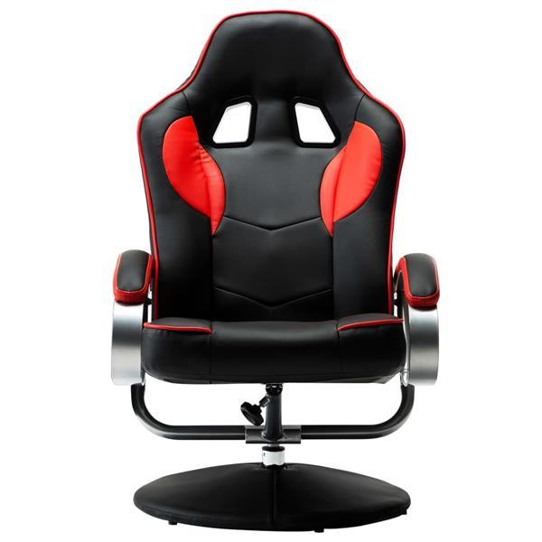 Grote foto vidaxl racestoel verstelbaar met voetenbankje kunstleer rood spelcomputers games overige merken