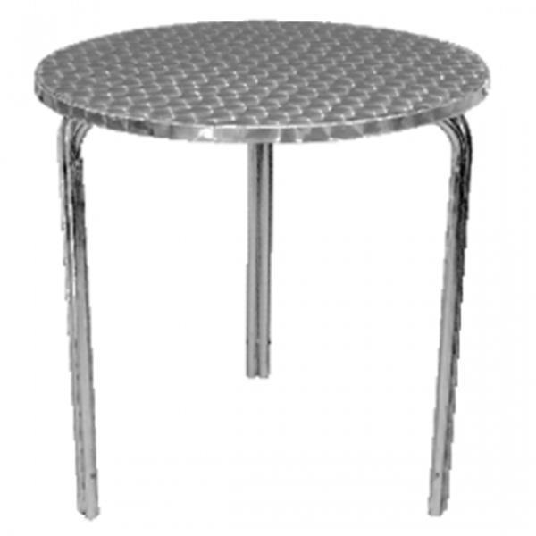 Grote foto rvs stapelbare ronde tafel diversen overige diversen