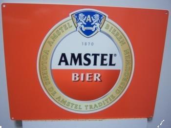 Grote foto amstel bier logo metalen pubbord diversen overige diversen