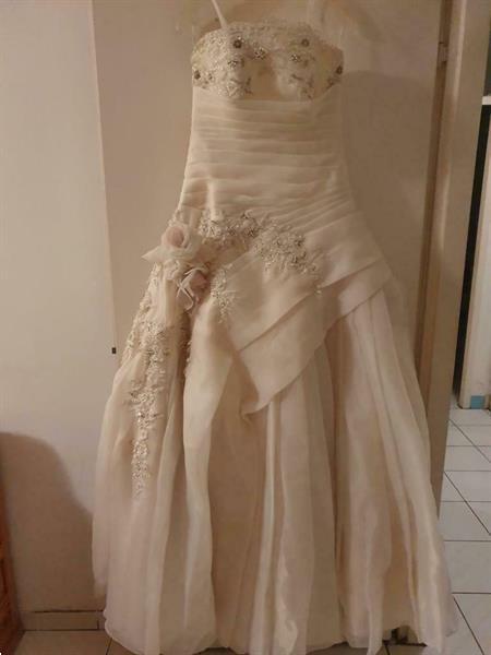 Grote foto prachtige cremedkleurig trouwjurk maat m kleding dames trouwkleding
