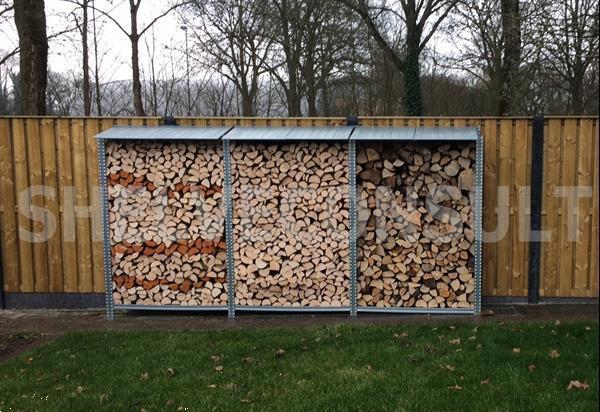 Grote foto stevige duurzame openhaardhout haardhout berging tuin en terras openhaardhout
