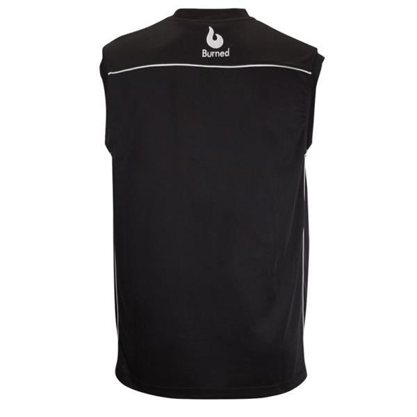 Grote foto burned enkelzijdig jersey zwart kledingmaat xxs kleding heren sportkleding