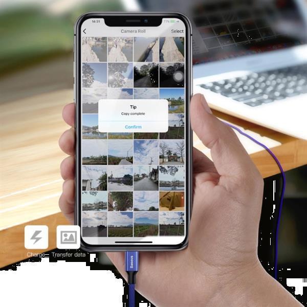 Grote foto lightning usb oplaadkabel datakabel 5m gevlochten nylon opla telecommunicatie opladers en autoladers