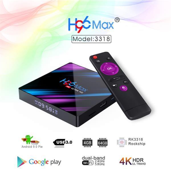 Grote foto h96 max 4k tv box mediaspeler android kodi 4gb ram 64gb audio tv en foto algemeen