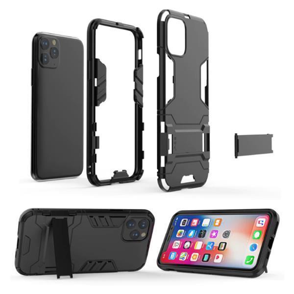 Grote foto iphone xs max robotic armor case cover cas tpu hoesje grij telecommunicatie mobieltjes