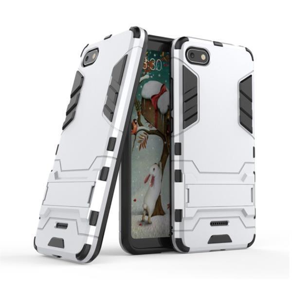 Grote foto iphone 6s plus robotic armor case cover cas tpu hoesje wit telecommunicatie mobieltjes