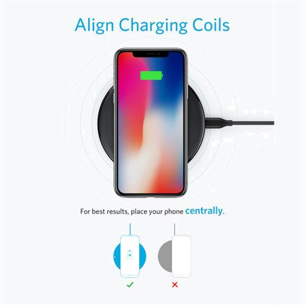 Grote foto powerwave 10w qi universele draadloze oplader wireless charg telecommunicatie opladers en autoladers