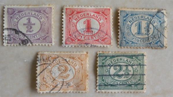 Grote foto postzegels oud. 5 stuks. verzamelen postzegels nederland