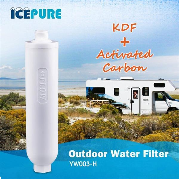 Grote foto caravan waterfilter camper waterfilter met slang van icepu caravans en kamperen caravan accessoires