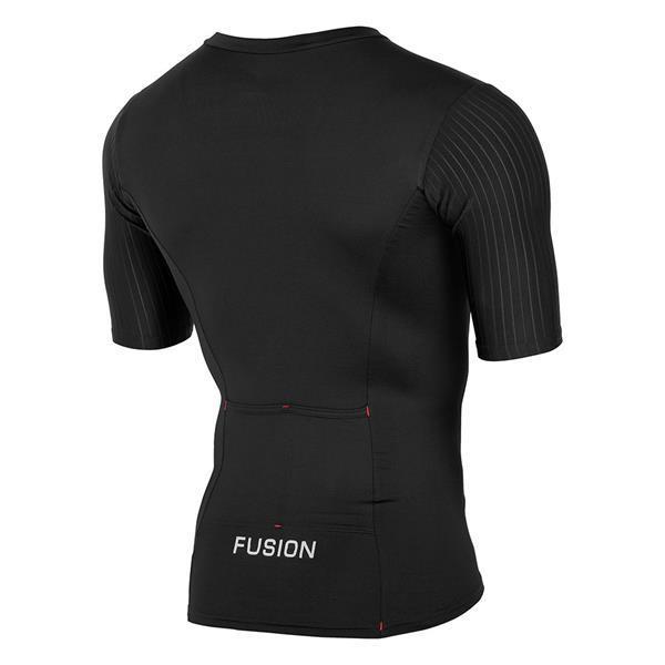 Grote foto fusion sli tri top short sleeve black size medium kleding heren sportkleding