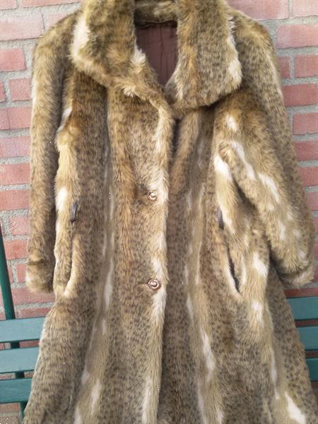 Grote foto extrovagante kunstbontlangejas lynx luipaard kleding dames jassen winter