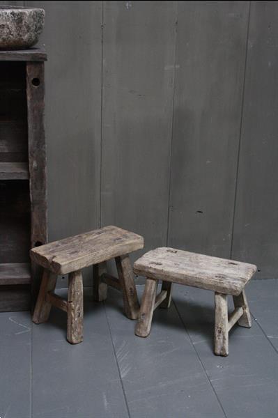 Grote foto uniek oud houten wc krukjes verschillende maten huis en inrichting bankstellen