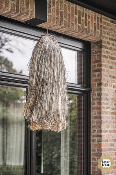 Grote foto abaca hanglamp natural black l 75 cm huis en inrichting overige