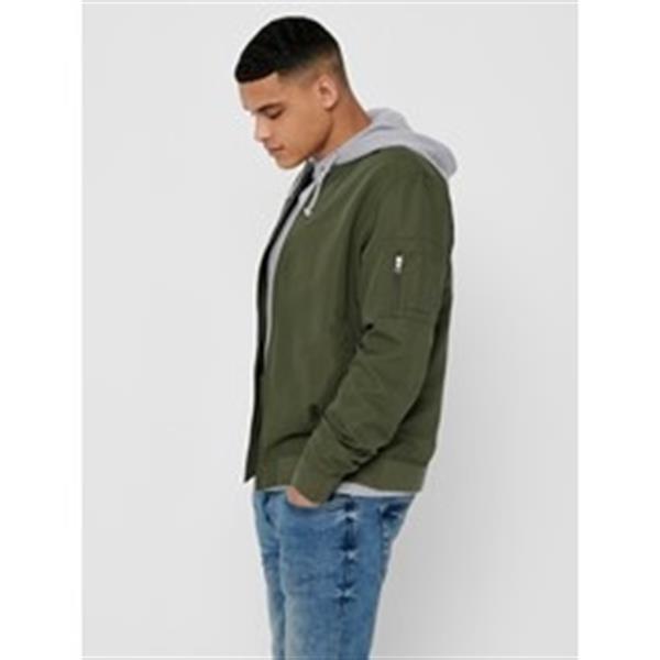 Grote foto only sons bomber olive kledingmaat xs kleding heren jassen zomer
