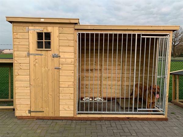 Grote foto hondenhok met kennel hondenkennel overdekt dieren en toebehoren hondenhokken en kooien