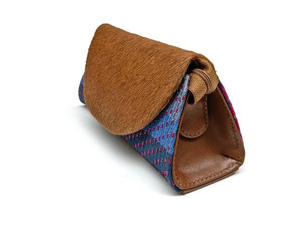 Grote foto handgemaakte clutch van stof en koeienvacht sieraden tassen en uiterlijk damestassen