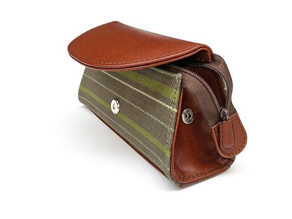 Grote foto handgemaakte clutch van stof en leer uit peru sieraden tassen en uiterlijk damestassen
