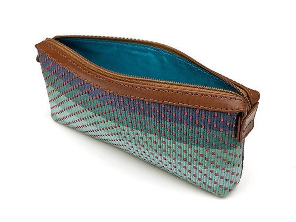 Grote foto handgemaakt blauw handtasje uit peru sieraden tassen en uiterlijk damestassen