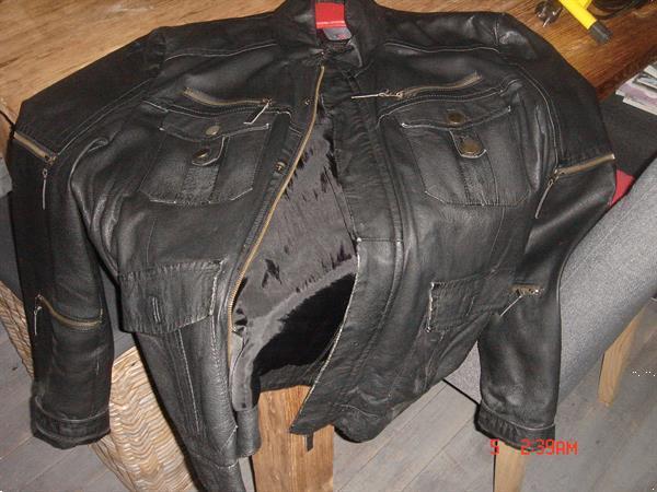 Grote foto leren jas zware kwaliteit zwart bruin 3xxxl kleding heren grote maten