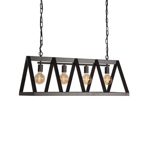 Grote foto label51 hanglamp roof zwart 95x35 cm huis en inrichting overige