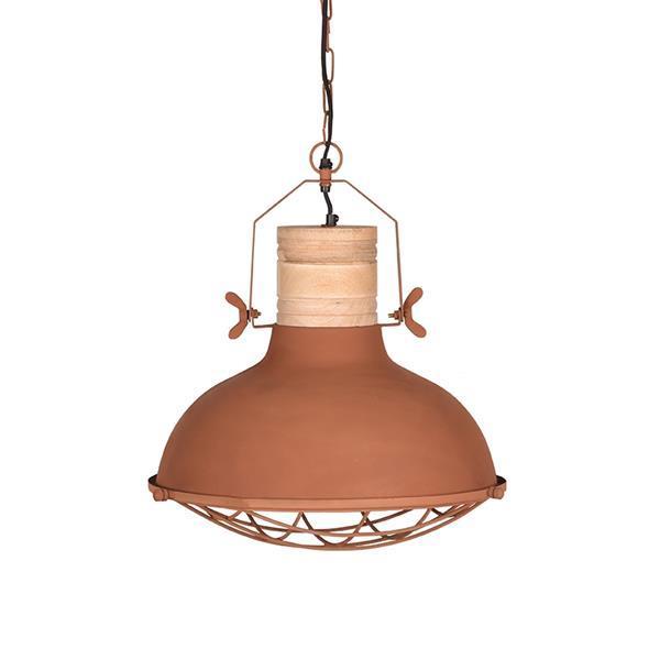 Grote foto label51 hanglamp grid rust 34 cm huis en inrichting overige