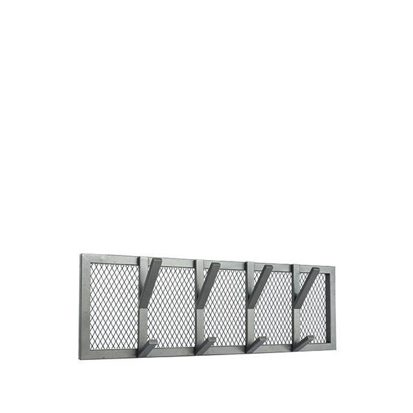 Grote foto label51 kapstok gruff burned steel 70x9x22 cm m huis en inrichting woningdecoratie