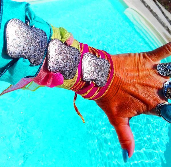 Grote foto bynass ibiza silk wrap bracelet elephant sieraden tassen en uiterlijk armbanden voor haar