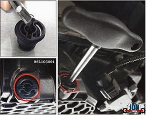 Grote foto sleutel voor de kunststof carterplug van vag 6193 auto diversen gereedschap