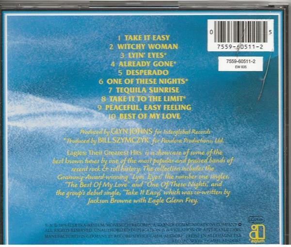 Grote foto eagless their greatest muziek en instrumenten cds minidisks cassettes