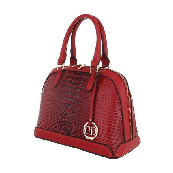Grote foto dames schoudertas dudlin ta 9220 91 rood sieraden tassen en uiterlijk schoudertassen