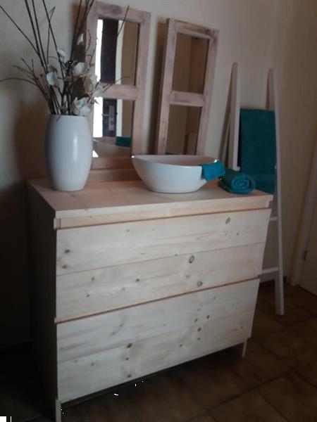 Grote foto steigerhouten badkamermeubel maimi vanaf 309 huis en inrichting badkamermeubels
