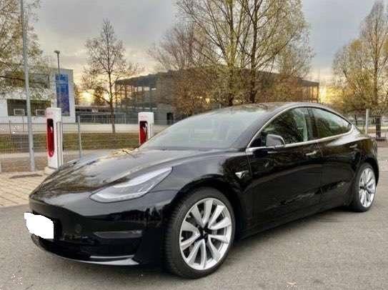 Grote foto tesla model 3 electric car 2019 auto tesla