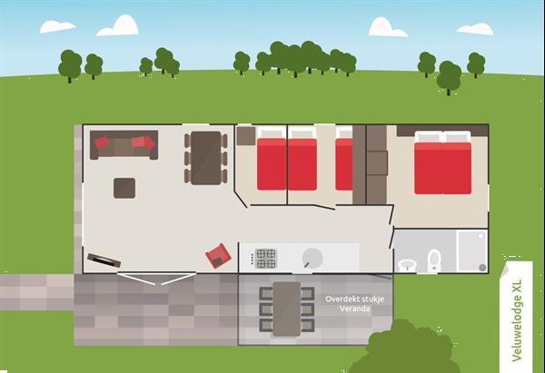 Grote foto modern 6 persoons vakantiehuis op park in voorthuizen vakantie nederland midden