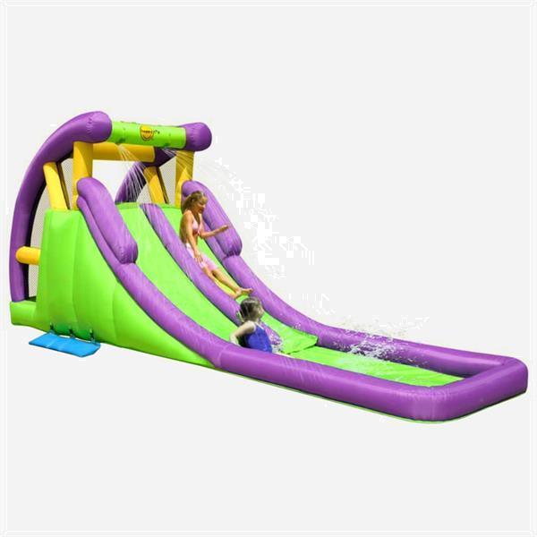 Grote foto happy hop glijbaan opblaasbaar met plonsbad 600x215x255 cm p kinderen en baby trampolines en springkussens