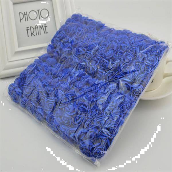 Grote foto mini foam roos 2 5 cm. donkerblauw 144st zak mini foam verzamelen overige verzamelingen