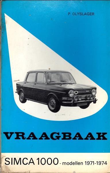 Grote foto vraagbaak simca 1000 modellen 1971 1974 boeken auto handleidingen
