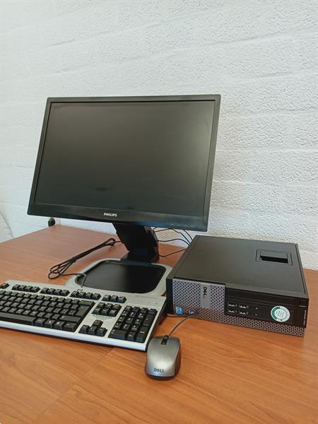 Grote foto snelle dell i5 computer met 22 inch computers en software desktop pc