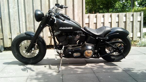 Grote foto harley fatboy softail motoren harley davidson
