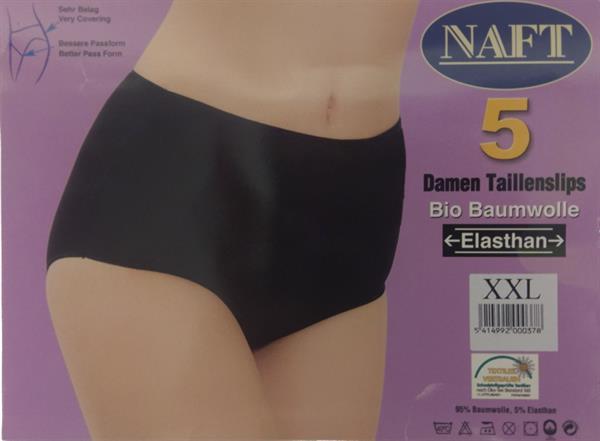 Grote foto 5x naft dames tailleslip zwart katoen l kleding heren ondergoed