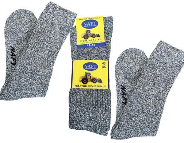 Grote foto 6x naft topkwaliteit werksokken grijs 39 42 kleding heren ondergoed