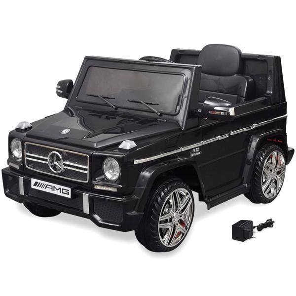 Grote foto vidaxl elektrische auto mercedes benz g65 suv 2 motors zwart kinderen en baby speelgoed voor jongens
