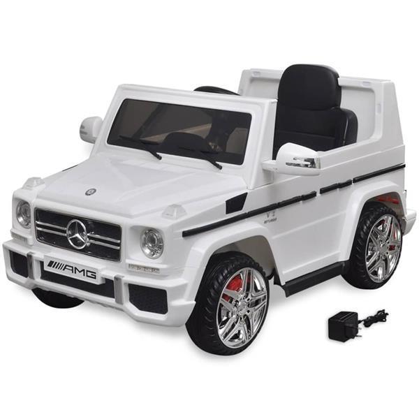 Grote foto vidaxl elektrische auto mercedes benz g65 suv 2 motors wit kinderen en baby speelgoed voor jongens