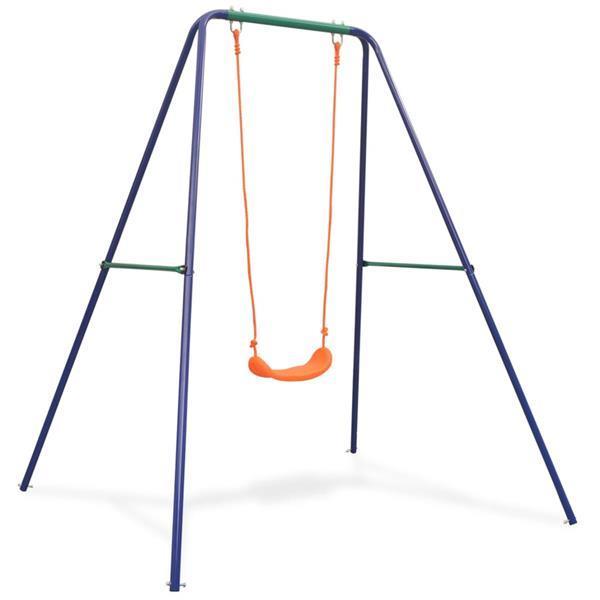 Grote foto vidaxl schommel enkel oranje kinderen en baby los speelgoed