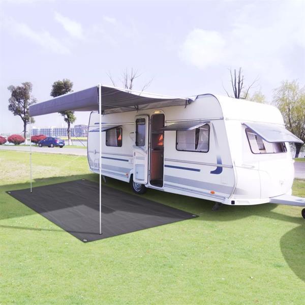 Grote foto vidaxl tentapijt 250x500 cm antraciet caravans en kamperen tenten