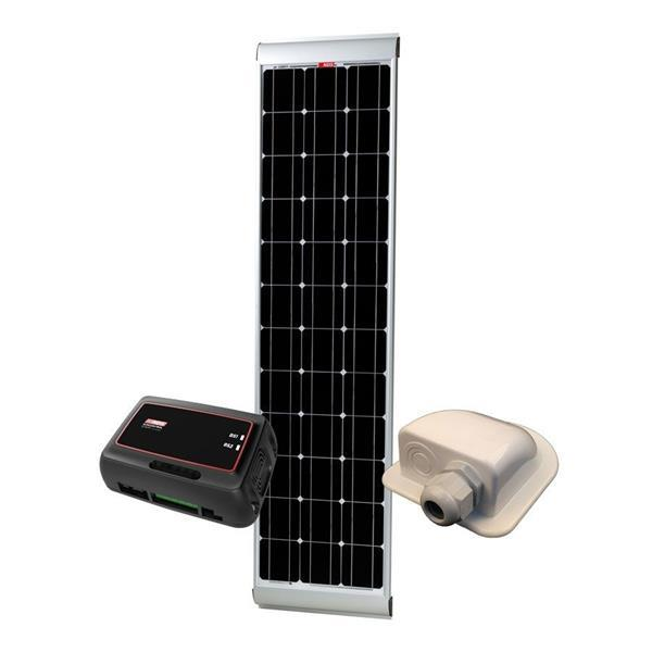 Grote foto nds solenergy 100w slimline zonnepaneel set sc320m caravans en kamperen overige caravans en kamperen