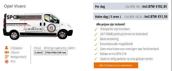 Grote foto kilometervrij busje te huur huren verhuur almere diensten en vakmensen verhuur auto en motor